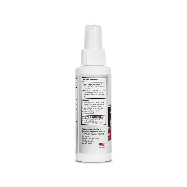 Anti-Microbial Wound Care Spray for Cats - Side