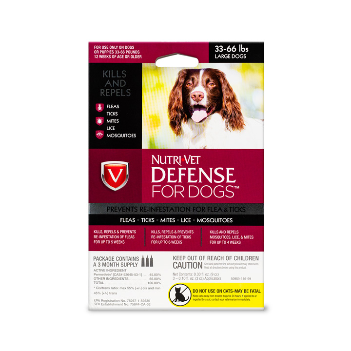 Defense Flea & Tick for Large Dogs - Front