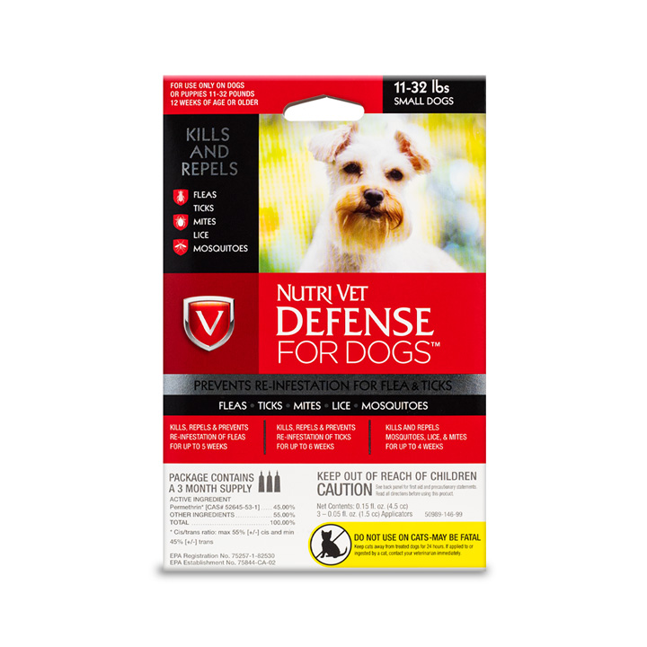Defense Flea and Tick for Small Dogs - Front