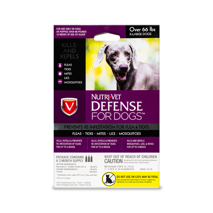 Defense Flea & Tick for XL Dogs - Front