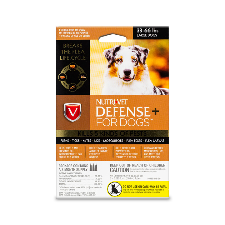 Defense+ Flea & Tick for Large Dogs - Front