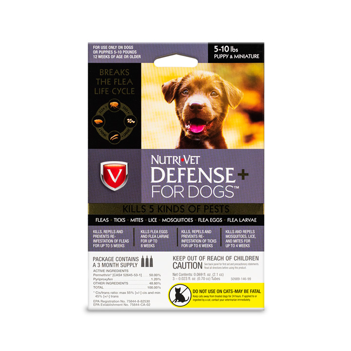 Defense+ Flea & Tick for Puppies - Front
