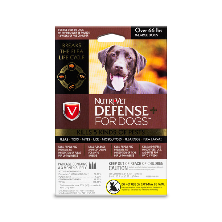 Defense+ Flea & Tick for XL Dogs - Front